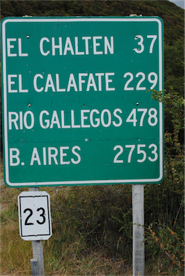 02 ....just 37km from Chalten at the end of the road on the banks of Lago del Desierto