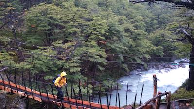 09 Crossing a new bridge across the Rio del Diablo