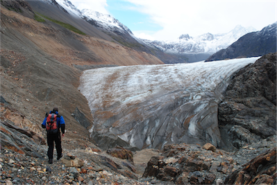 12 the glacier tumbled in neat folds ahead.....
