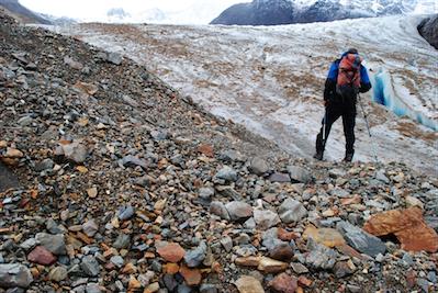 13 ....we descended to the glacier