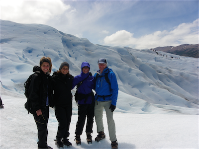 Fam on glacier