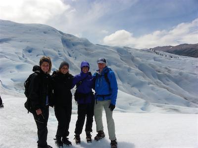 Fam on glacier